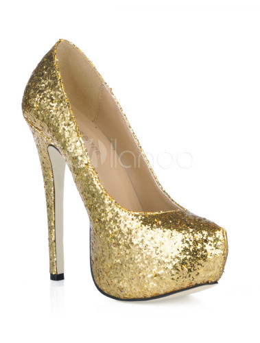4854e10ab8 ... Platform Stiletto Heel Sequin PU Womens Shoes-No.17 ...