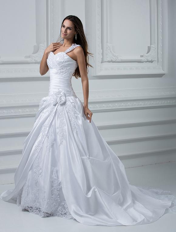 Wedding Dress with Court Train - Milanoo.com