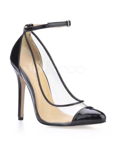 Zapatos negros de PVC de tacón alto 8rJYxx8hu