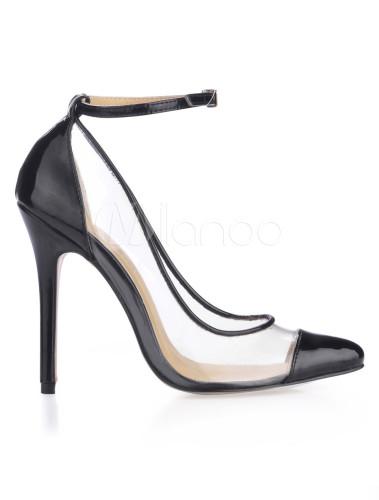 ... Chaussure à talon haut noire avec bordure -No.5 ...