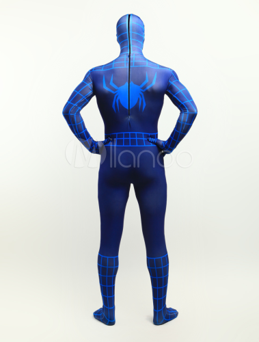 Product Features Spider-Man zip up costume hoodie shirt with front pockets and mask with.