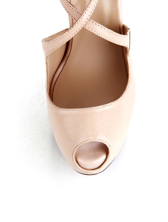 Zapatos peep toe de PU nude ZlLhF