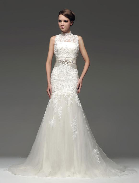 ... Ivory Beading Strapless Mermaid Wedding Dress  No. ...