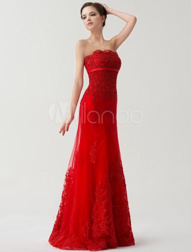 Robe mariee dentelle rouge