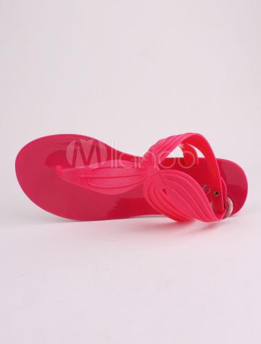 Sandales Style Rose Avec Détail Tongs Plastique Confortables Délicat QrtsdhCx