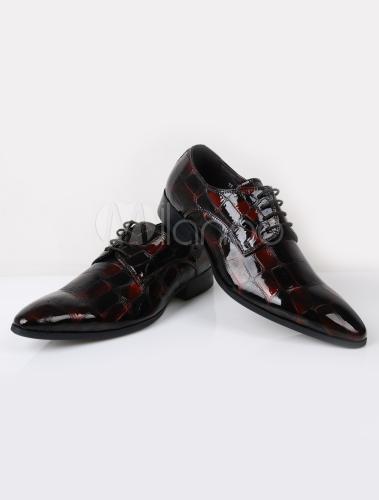 Chaussures chic homme de en peau de homme vache à motif serpent b96493