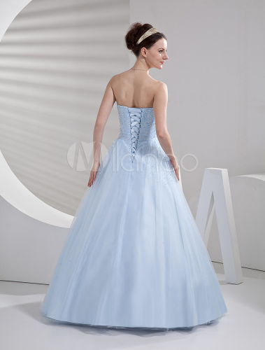 e1e6bd4a63 Glamorous Ball Gown Light Sky Blue Tulle Quinceanera Dress - Milanoo.com