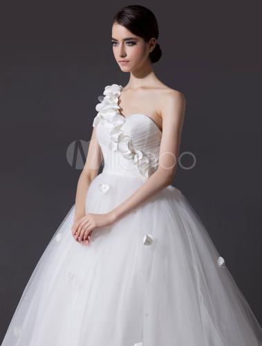 Robe de mariage fabuleuse a ligne en tulle avec fleur for Robes de mariage indien en ligne