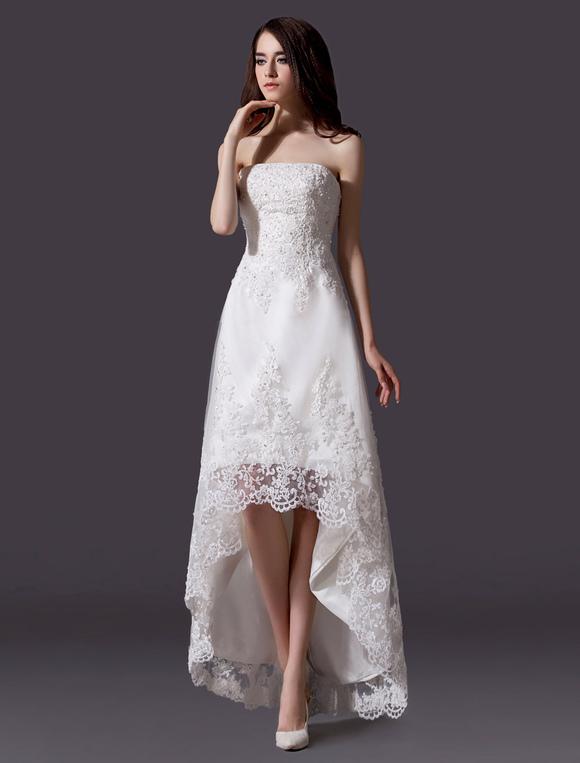 Lace Asymmetrical Wedding Dress | Wedding Gallery