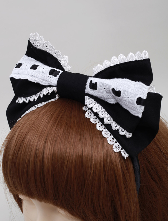 Black Cotton Lolita Headdress