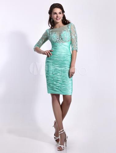 robe soutenue de cocktail verte fourreau en taffetas col With robe de cocktail combiné avec capteur activité