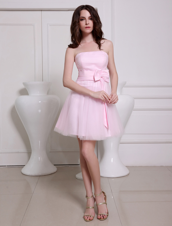 Robe bustier rose tulle