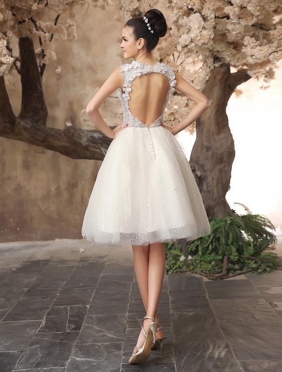fantastisches a linie brautkleid kurz tull hochzeitskleid mit herz ausschnitt und deko