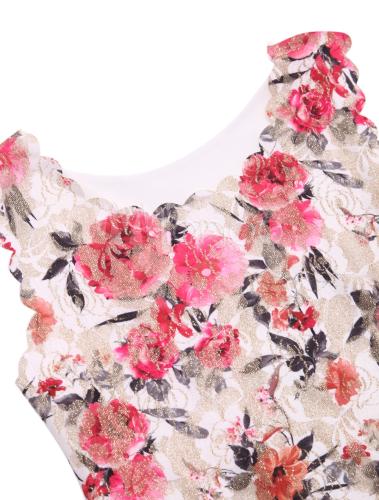 t-shirt femme moulant en polyester imprimé fleuri rose - milanoo