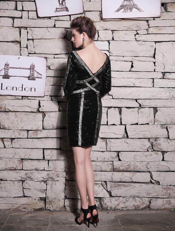 Cocktailkleid mit pailletten kleider f r hochzeitsg ste - Kleider milanoo ...