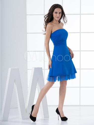 b1661f9fc8da Abito da sera corto blu – Vestiti da cerimonia