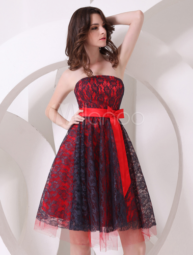 Robe de soiree rouge mini