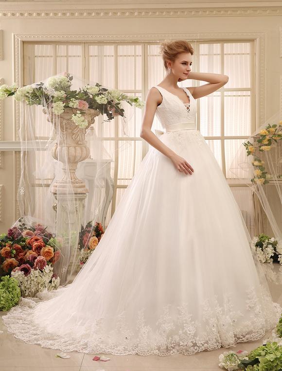 Vestidos de novia vestido de novia vestido de novia sin respaldo de ...