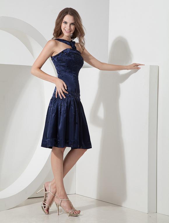 Vestidos coctel azul