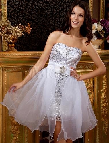 Feminine White Strapless Mini Tulle Womens Homecoming