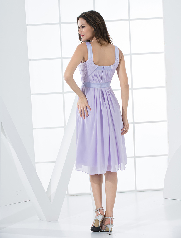 Cocktailkleid aus Chiffon in Lavender-Lila - Milanoo.com