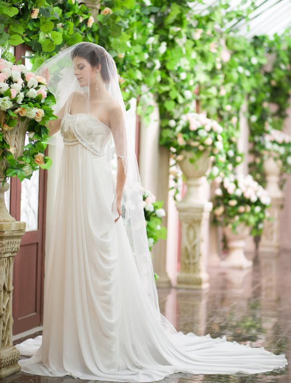 robe mari e de plage magnifique a ligne en chiffon ivoire
