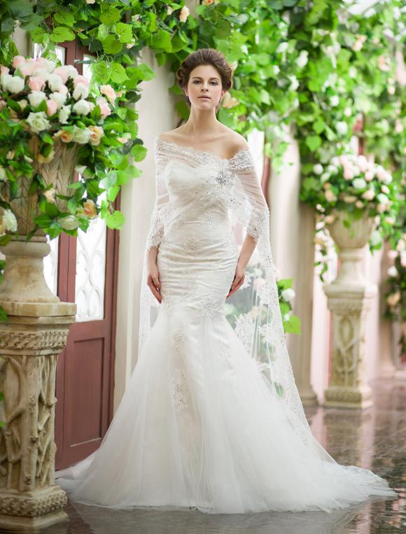 Sequin Wedding Train