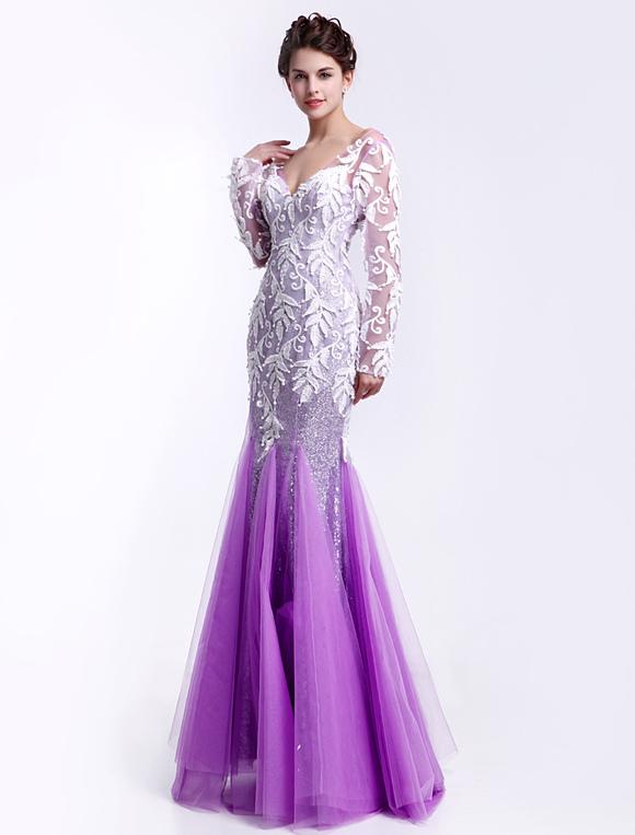 Vestidos de fiesta de color lila