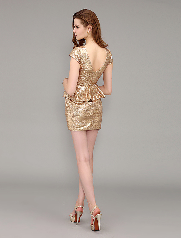 Jewel neck cocktail dress