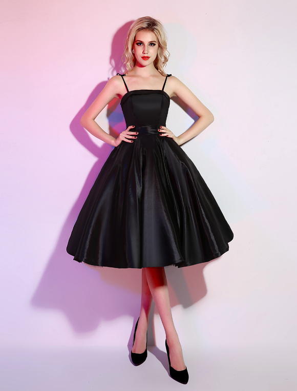 6cb540cba8 ... Black Prom Dresses 2019 Short Ball Gown Backless Cocktail Dress Bow  Decor Party Dress With Spaghetti ...