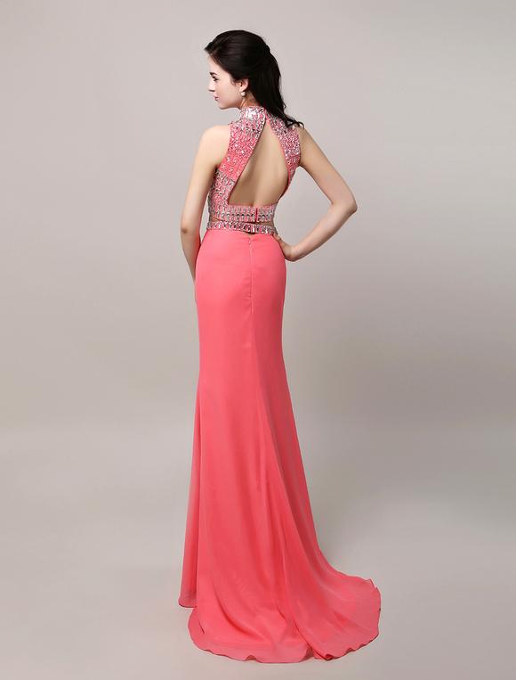 coral prom dress 2018