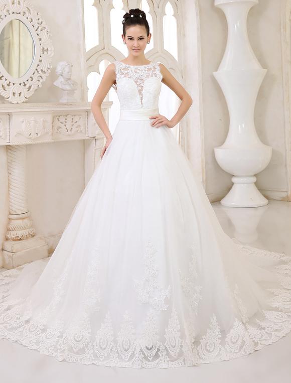 Robes de mariée Ivoire dos nu robe de marié