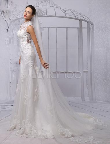 Robe de mariee fourreau ivoire