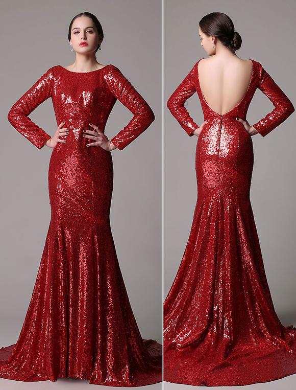 Lange enge rote kleider