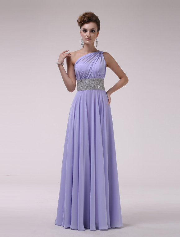 One Shoulder Bridesmaid Dress With Beaded No 3