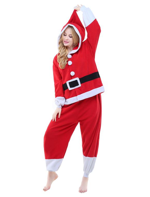novísimo selección últimos diseños diversificados Precio de fábrica 2019 Mono rojo de Kigurumi traje franela Unisex Animal mono Santa cláusula ropa  de dormir Halloween