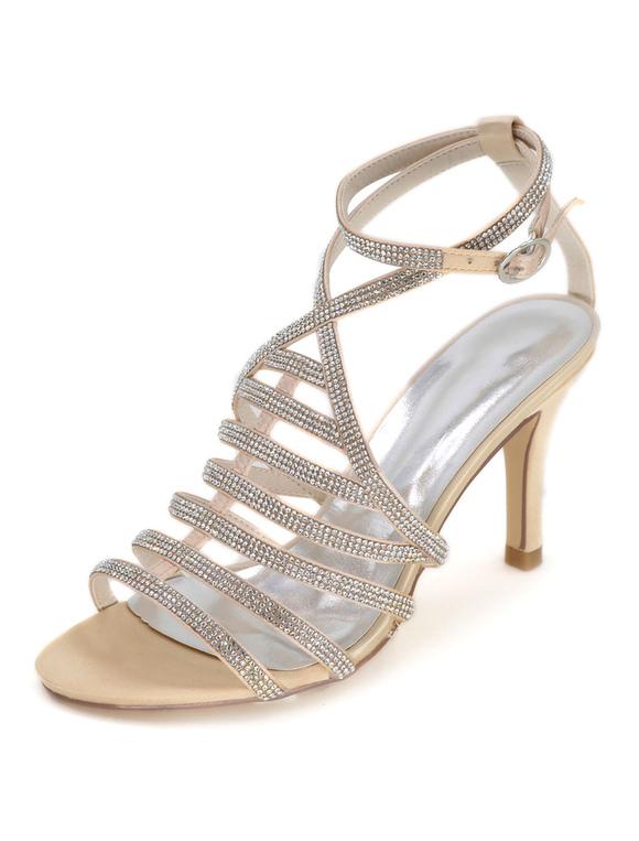 wei e hochzeit gladiator sandalen damenschuhe high heel. Black Bedroom Furniture Sets. Home Design Ideas