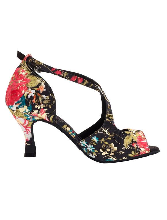 Vintage zapatos de tacón zapatos de salón de baile correa impreso Floral para las mujeres uifVAbz