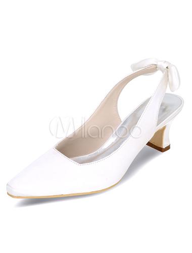 ... Silberne Hochzeit Schuhe High Heel verneigt sich elegante Satin  Brautschuhe-No.2 ... a463b5af3c