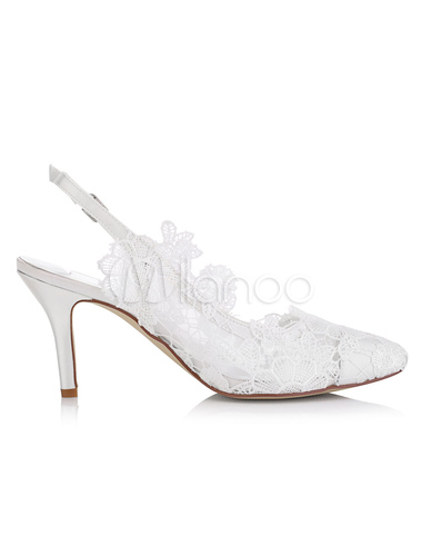 ... Lace Wedding Shoes Kitten Heel Pointed Toe Flower Satin Bridal Shoes No.2  ...