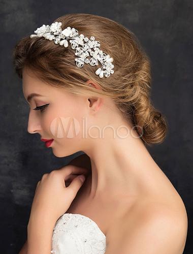 accessoires de cheveux perle imitation des femmes mariage tiara alliage strass. Black Bedroom Furniture Sets. Home Design Ideas