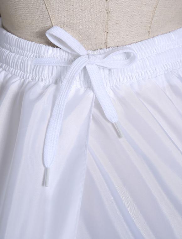8e074179f6e4a ... White Wedding Petticoat Ball Gown Slip 1 tier Bridal Hoop Skirt-No.2 ...