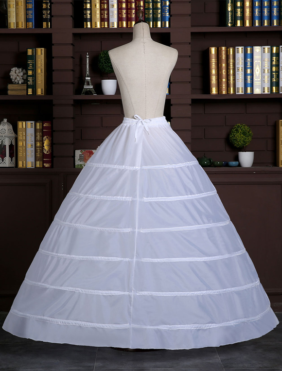 be10a34a1ee8 ... White Wedding Petticoat Ball Gown Slip 1 tier Bridal Hoop Skirt-No.3