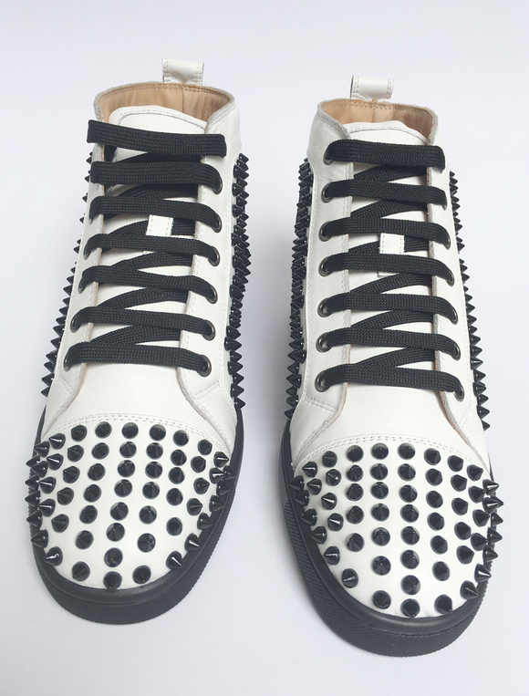 98e61109ee24 ... Red Skate Shoes 2019 Men Spike Shoes Suede Round Toe Lace Up High Top  Sneakers- ...