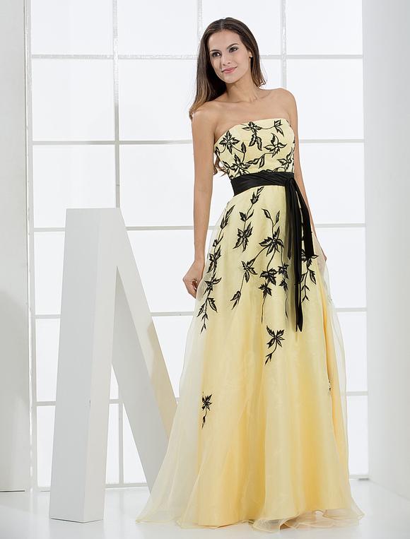 a7d4c3cb9c700 Vestito giallo da cerimonia – Abiti in pizzo