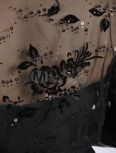 quality design 92d05 dca22 Matrimonio nero giacca Bolero Pizzo Perline mezza manica aperta anteriore  giacca da sposa