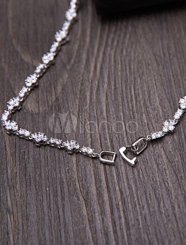 d081d241dfac ... Set de joyería para boda estilo clásico Pendientes de clip de metal  para chicas plateado- ...