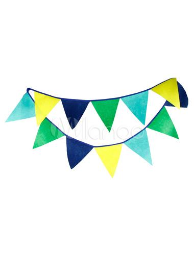 Blaue Hochzeit Dekorationen Multicolor Dreieck Girlande Banner