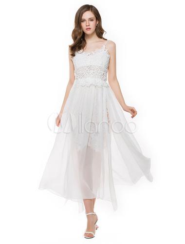 Vestidos de playa blanco largos