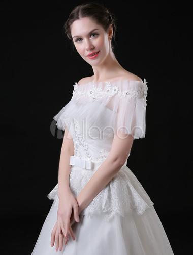 Wunderschon Hochzeit Cape Tull Mit Spitzen In Elfenbeinfarbe